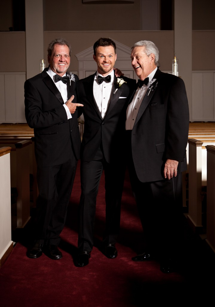 Groom, groom's father, and father in law