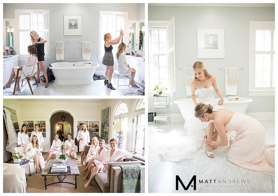 Lindsay's mother's house was the perfect location for the girls to get ready and feel at home.